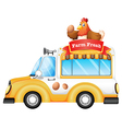 A vehicle selling farm fresh products vector image vector image