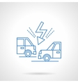 Accident on road flat line icon vector image vector image