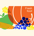 autumn harvest festival color with vegetables vector image vector image