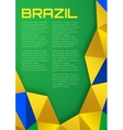 Background using Brazil flag colors 2016 A4 size vector image vector image