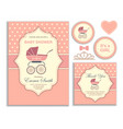 bashower girl invitation card vector image