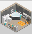 Bathroom Isometric vector image vector image