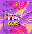 black friday sale banner for online shopping vector image