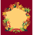 Brazilian Carnival colorful background vector image