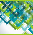 bright geometric background from blue and green vector image vector image