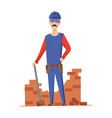 builder mason construction worker with vector image vector image