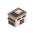 building garage commerce isometric style vector image