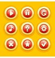 ButtonGameUi vector image vector image