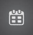 calendar sketch logo doodle icon vector image vector image