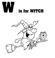 Cartoon witch with letter vector image vector image