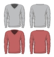Casual mens v-neck sweatshirt vector image