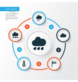 climate icons set collection of temperature vector image vector image