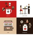 Coffee House Flat Set vector image