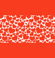 color red hearts horizontal chaotic seamless vector image vector image