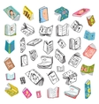 Colorful Open Books Drawing Library Big Collection vector image vector image