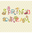 Colorful Spring Text vector image vector image