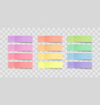 colorful sticky notes stickers vector image