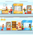 concept of shopping peoples vector image vector image