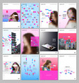 creative brochure templates with colorful elements vector image vector image