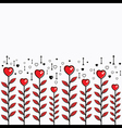creative valentines plant design vector image vector image