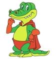 Crocodile in the raincoat vector image vector image