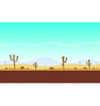 Desert cartoon game background vector image vector image
