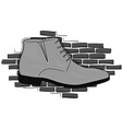 desert light gray shoe lace on a background of vector image vector image