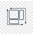 dimension concept linear icon isolated on vector image