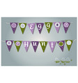 easter garlands with flags eggs hearts and vector image