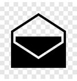 envelope icon - iconic design vector image