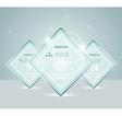 Eps10 glass transparent web box vector image vector image