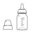 feeding bottle or baby bottle for infants and youn vector image