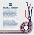 flat business diagram background vector image vector image