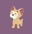 flat cute bulldog vector image vector image