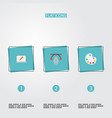 flat icons artist screen writing and other vector image vector image