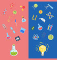 flat style science icons lightbulb concepts vector image vector image