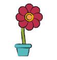 flower in pot symbol vector image vector image