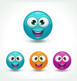 funny glossy comic round character happy face vector image