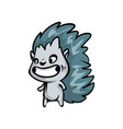 funny smiling kid hedgehog waiting his party game vector image vector image