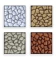 Game Stone Texture Set Vintage Retro Cartoon Style vector image vector image