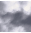 Grey Sky With Clouds Nature background vector image