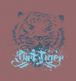 grunge tiger hand drawn vector image