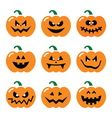 Halloween pumpkin icons set vector image vector image