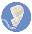handset vintage telephone vector image