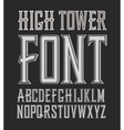 handy crafted vintage label font High vector image vector image