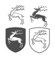 heraldic shields with dear vector image vector image