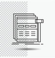 internet page web webpage wireframe line icon on vector image vector image