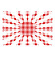 japanese rising sun halftone icon vector image vector image