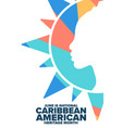 june is national caribbean american heritage month vector image vector image