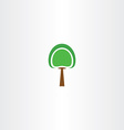 logo icon green tree sign element vector image vector image